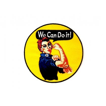 Patch We Can Do It Rosie The Riveter Flicken Aufnäher Aufbügeln Bügelbild Rosie2