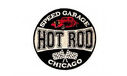Patch Hot Rod Speed Garage Chicago Flicken Aufnäher Aufbügeln Bügelbild hotrod