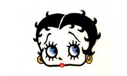 Patch Betty Boop Head Flicken Aufnäher Aufbügeln Bügelbild betti2