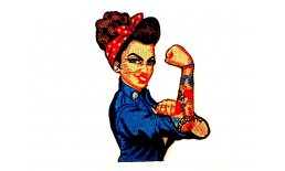Patch Rosie the Riveter Tattoo Flicken Aufnähen Aubügeln Bügelbild rosie1