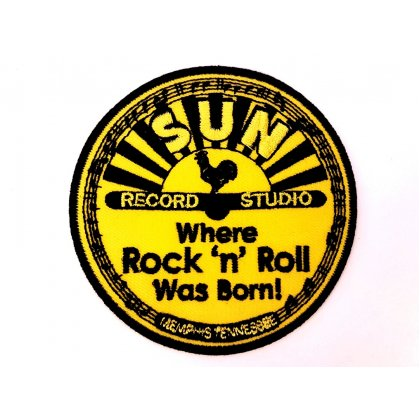 Patch Sun Records Studio Where Rock'n'Roll Was Born Flicken Aufnäher Aufbügeln Bügelbild rock2