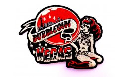 Patch Bubblegum Vegas Rethot Pin Up Animalprint Flicken Aufnäher Aufbügeln Bügelbild bubble2