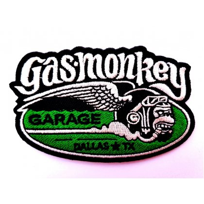 Patch Gas Monkey Garage Dallas Texas TX Flicken Aufnäher Aufbügeln Bügelbild gas1