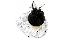 Pillbox Hut Fascinator Schwarz Schleier Burlesque Vintage Pin Up Ball Abendmode IMG_20210322_134642