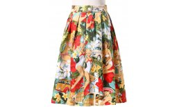 Rock Türkis Braun Weiss Rot Midi Hawaii Old Car Surf Palmen Blüten Pin Up Sommer 55764342d794711baea327db-39...