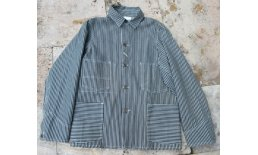 Heavy Engineer Hickory Stripe Denim Vintage Worker Jacket 1918 Streif3